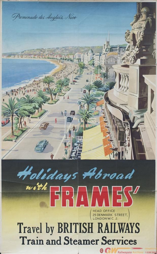 Poster BR HOLIDAYS ABROAD WITH FRAMES TRAVEL BY
