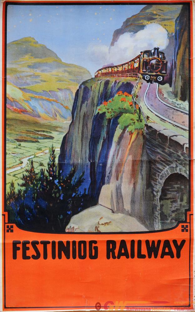 Poster, Festiniog Railway By Norman Keene, Double