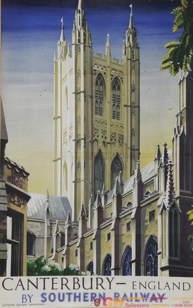 Poster Southern Railway 'Canterbury - England By