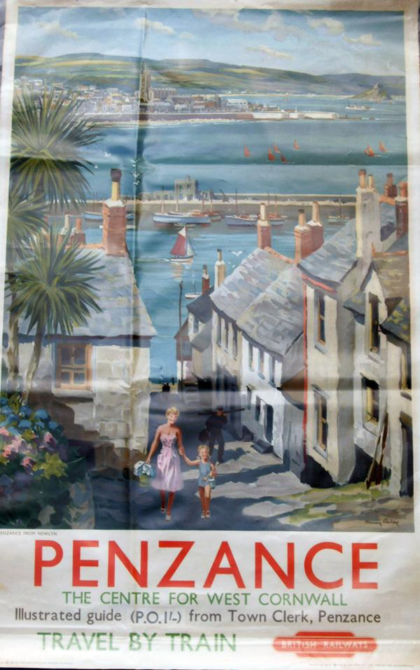 Poster British Railways D/R 'Penzance - The Centre