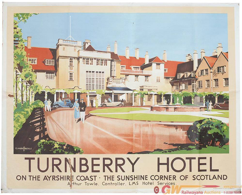 Poster LMS TURNBERRY HOTEL ON THE AYRSHIRE COAST