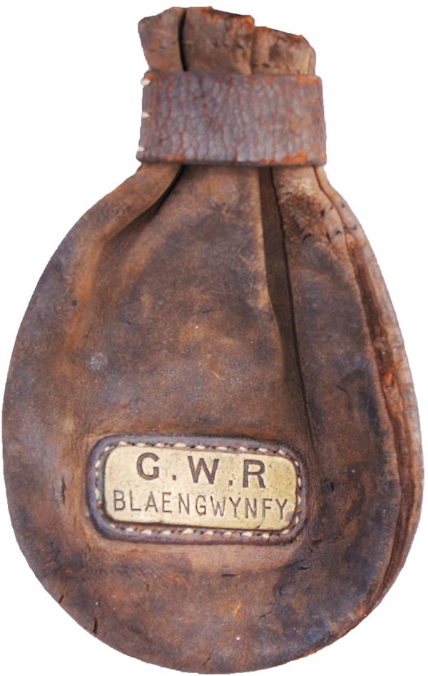 GWR Leather Cash Bag Complete With Brass Pate