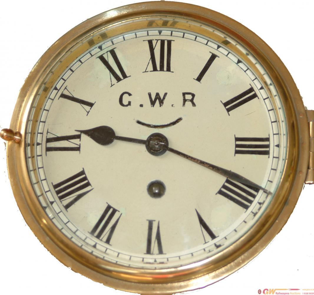 GWR Brass 7 Ships Type Clock Ex Fishguard Harbour
