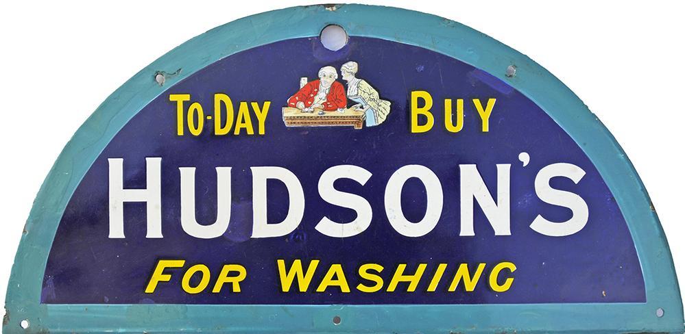 Enamel Advertising Sign 'Today Buy Hudsons For