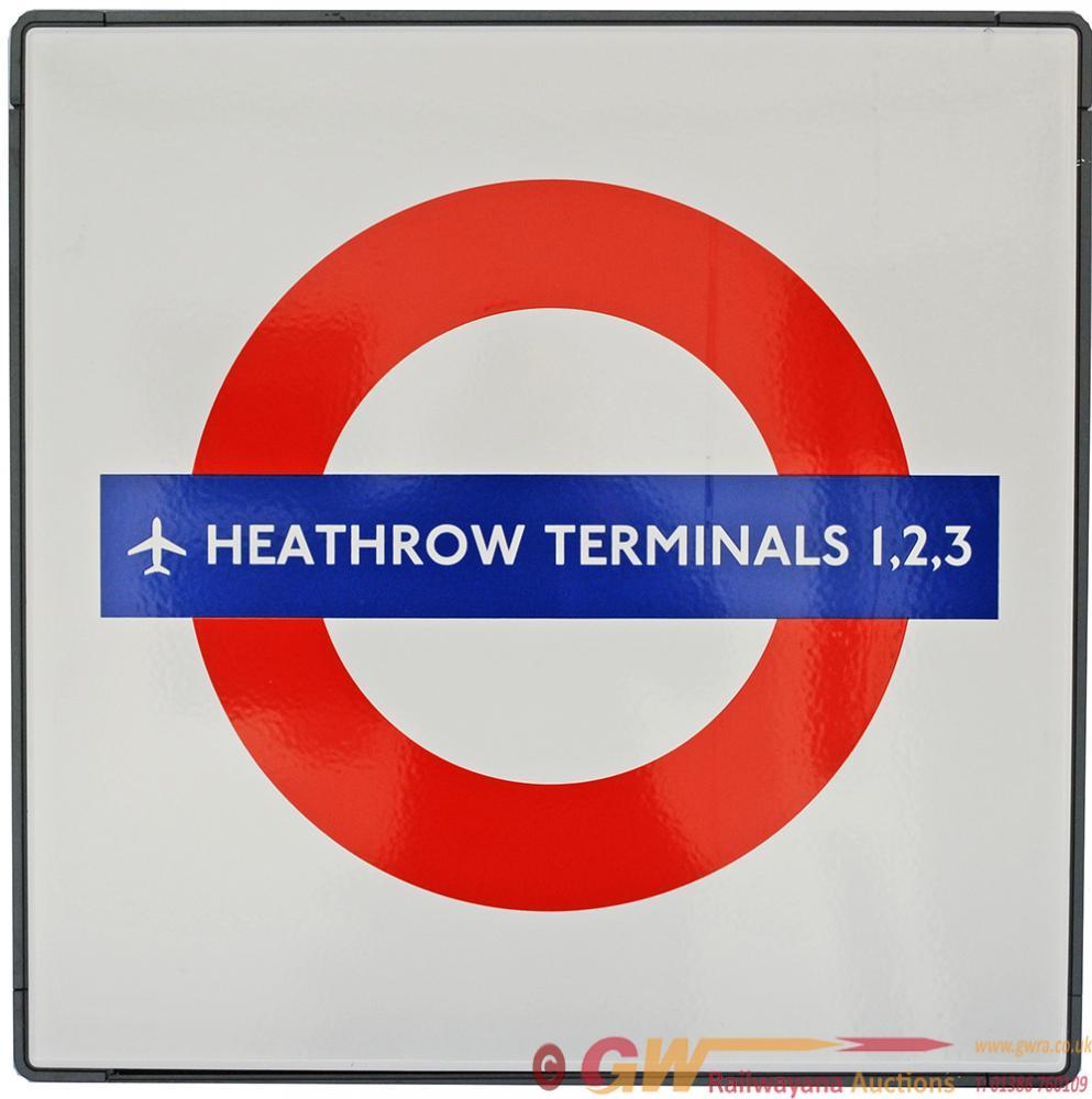 London Transport Enamel Underground Station Target