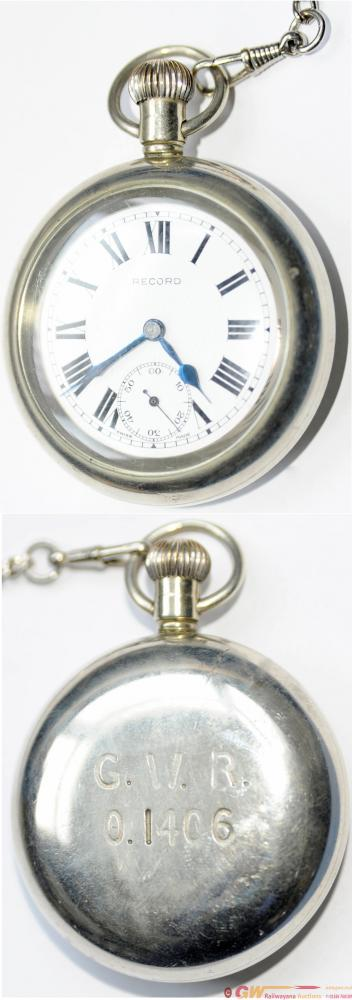 GWR Pocketwatch By Record With 'G.W.R. 0.1406