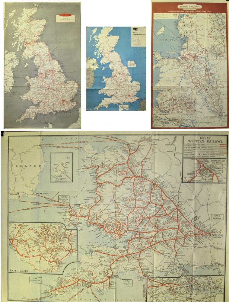A Lot Containing A Number Of 1/2 Sized Poster Maps