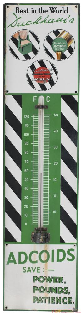 Advertising Enamel Thermometer DUCKHAMS ADCOIDS