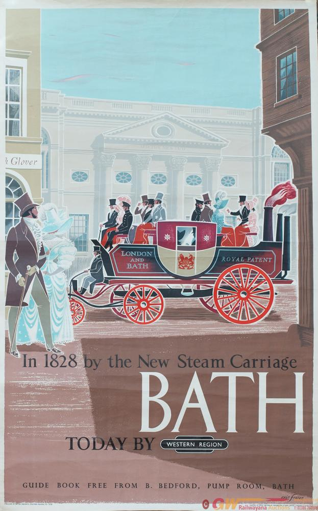 Poster BR BATH In 1828 By The New Steam Carriage,