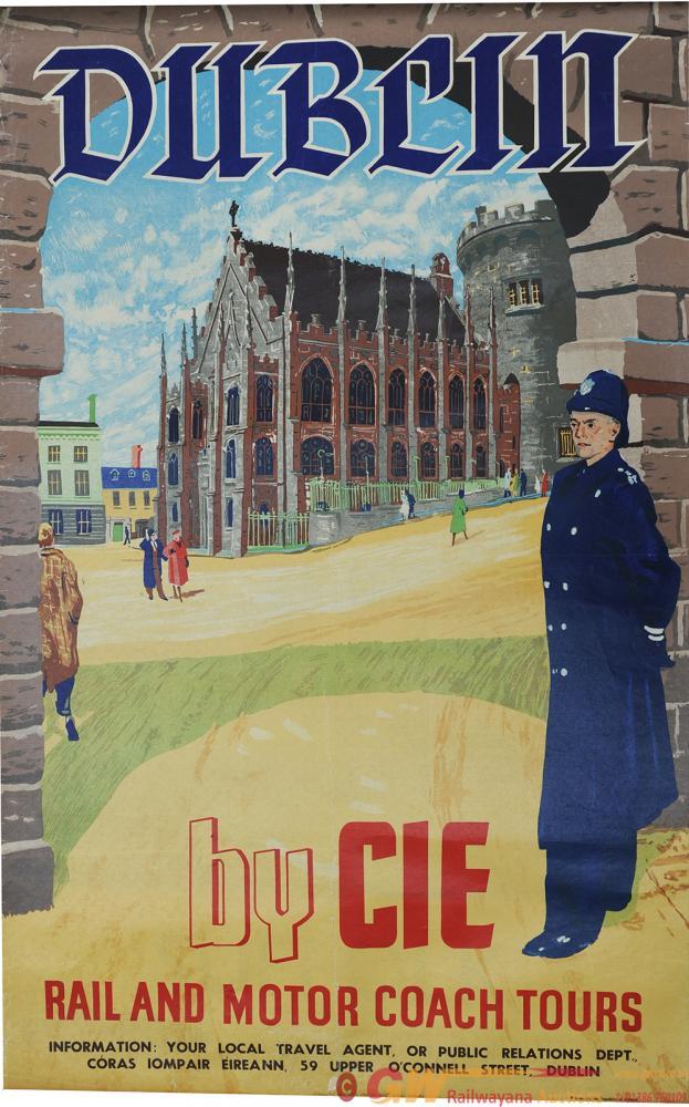 Poster Irish Railways 'Dublin By Cie Rail And