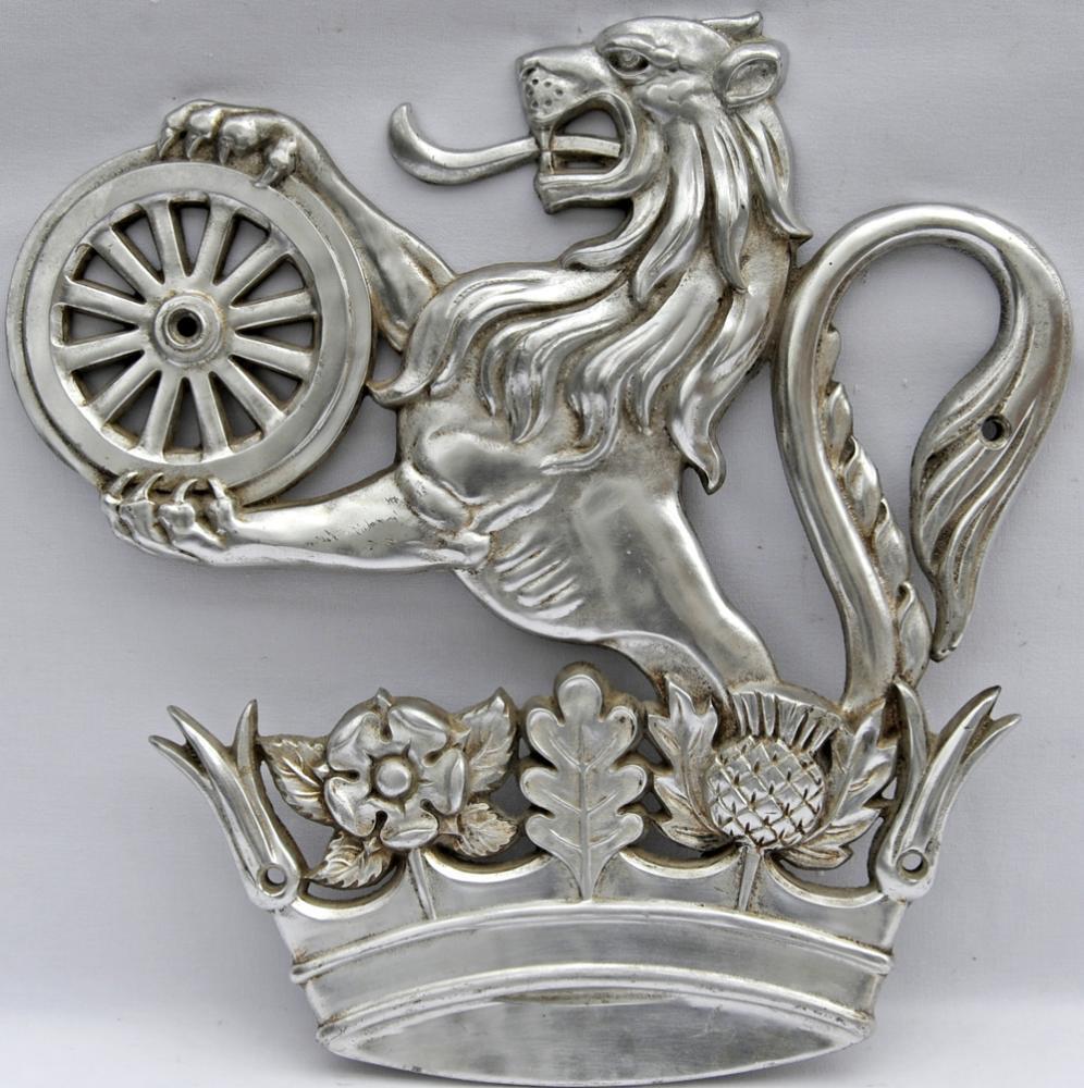 British Railways Lion-Over-Wheel Cabside Emblem,