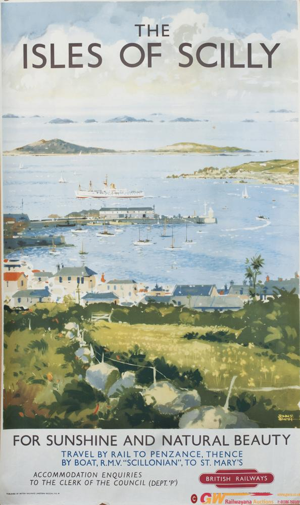 Poster BR(W) THE ISLES OF SCILLY FOR SUNSHINE AND