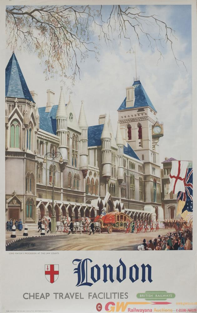 Poster BR LONDON LORD MAYORS PROCESSION AT THE LAW