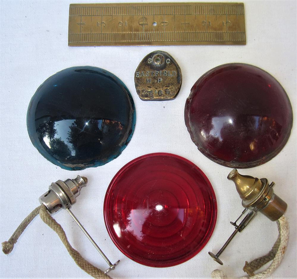 A Small Collection Of Lamp Spares. RED And GREEN