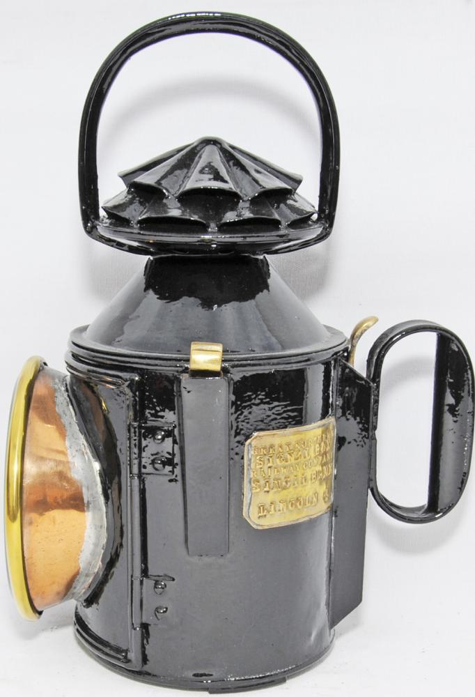 GNR Double Pie-Crust Handlamp Brass Plated 'Great