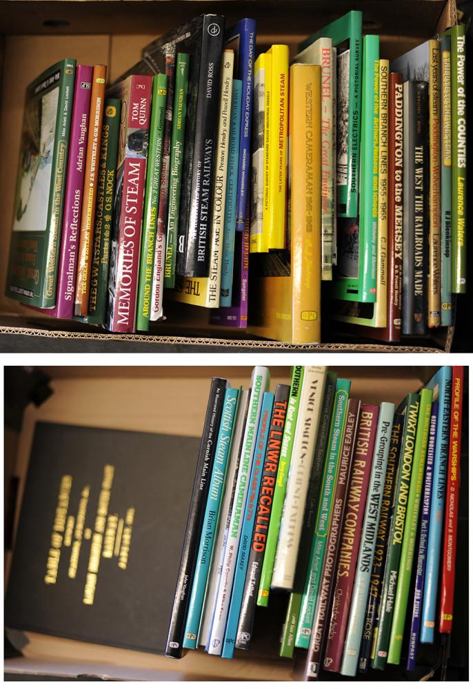 2 X Boxes Of Approximately 40 Hard Back Books Of