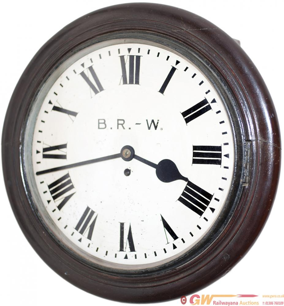 GWR Mahogany Cased 14 Inch Fusee Clock. The