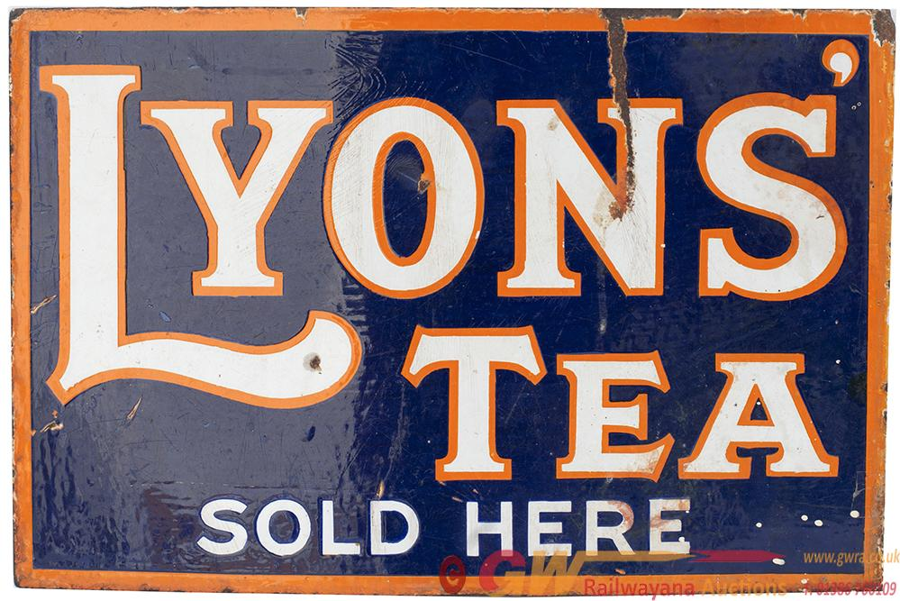 Advertising Enamel Sign LYONS TEA SOLD HERE,