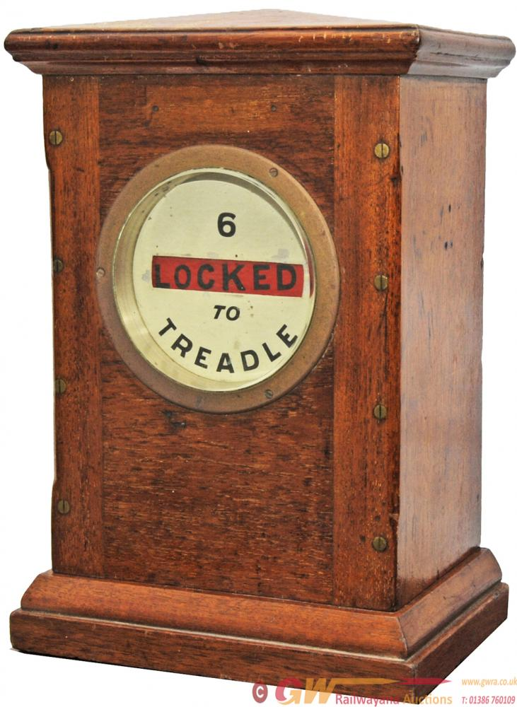 Sykes Lock & Block Signal Box Instrument '6 LOCKED