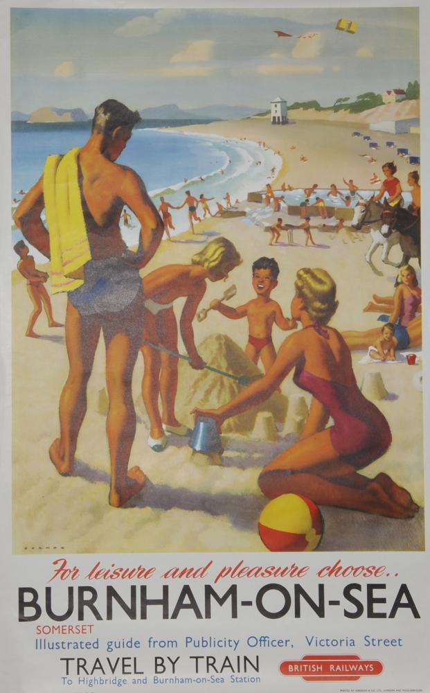Poster BR(W) 'Burnham-On-Sea, Somerset' By Durmon,