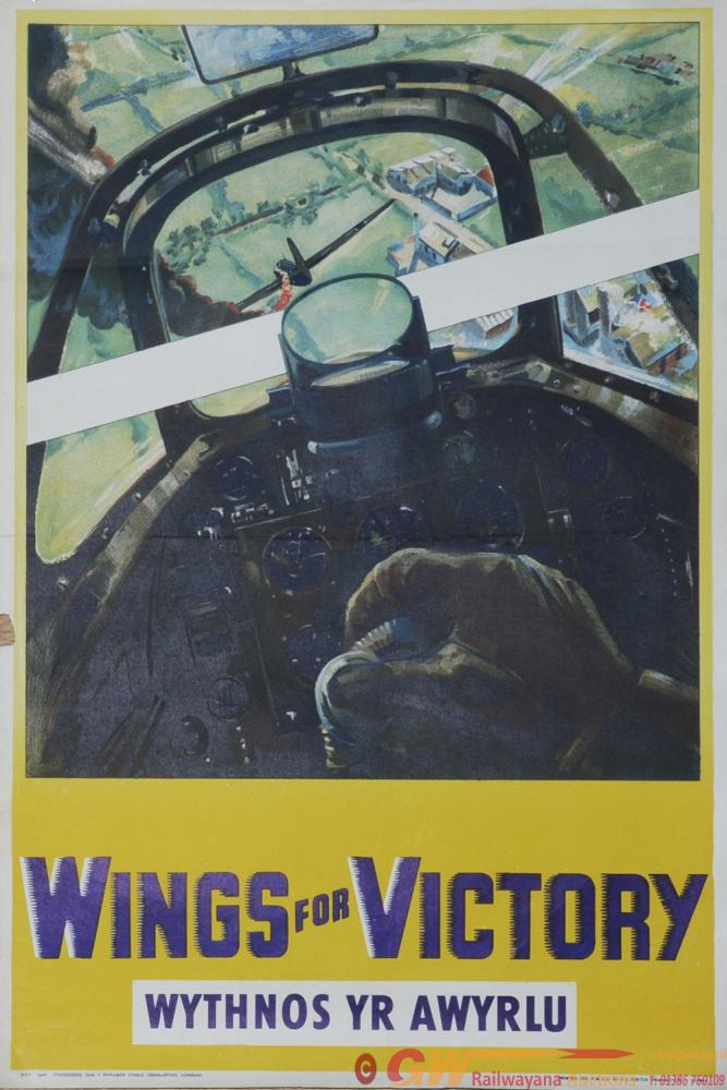 Poster Wartime 'Wings For Victory - Wythnos Yr
