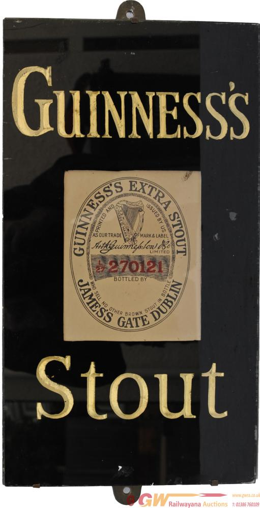 Brewery Advertising Glass & Slate Sign 'Guinness's