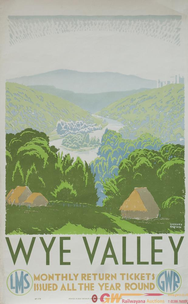 Poster GWR LMS WYE VALLEY By Gregory Brown. Double