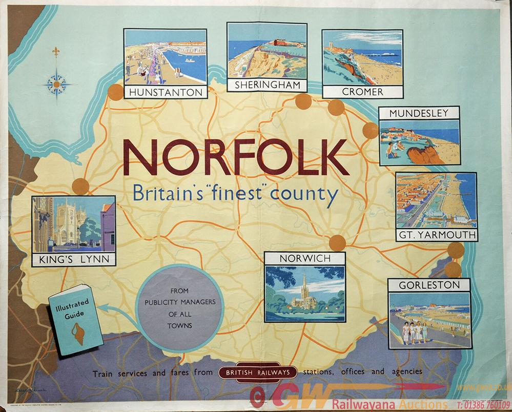 Poster 'Norfolk' By Lance Cattermole Quad Royal