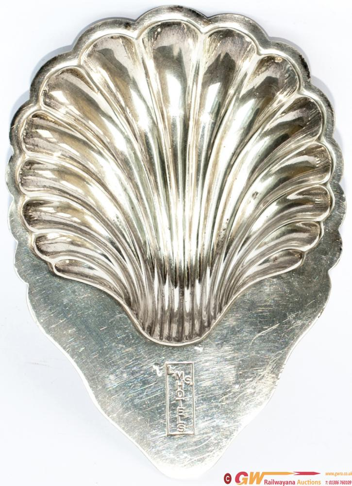 LMS Silverplate Oyster Dish Marked On The Top LMS