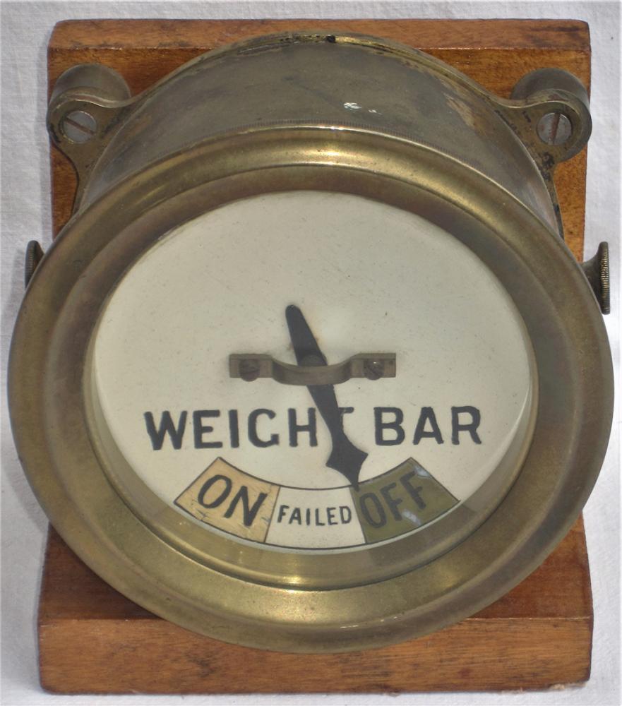 Midland Railway Brass WEIGHT BAR Indictor Mounted