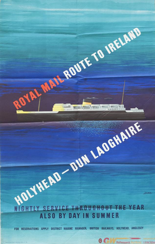 Poster BR(M) ROYAL MAIL ROUTE TO IRELAND HOLYHEAD