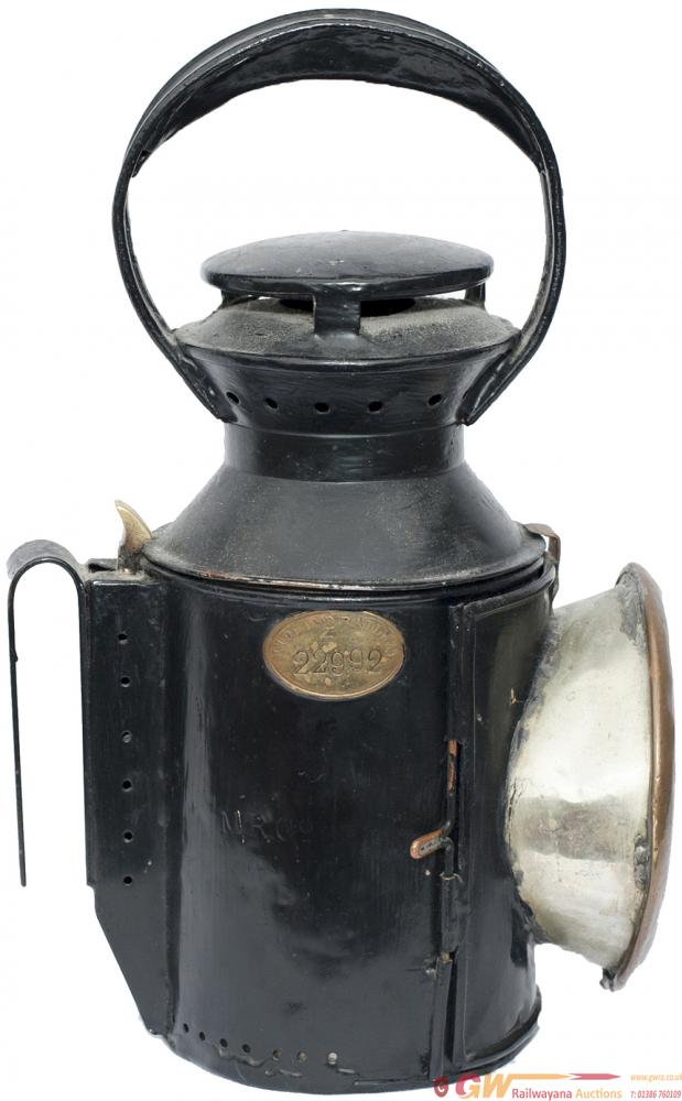 Midland Railway 3 Aspect Handlamp, Stamped In The