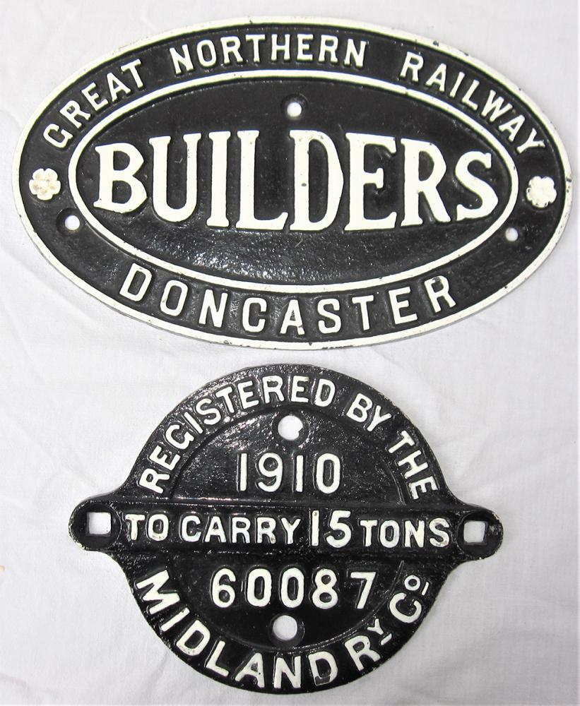 GNR Cast Iron Builders Plate, GREAT NORTHERN