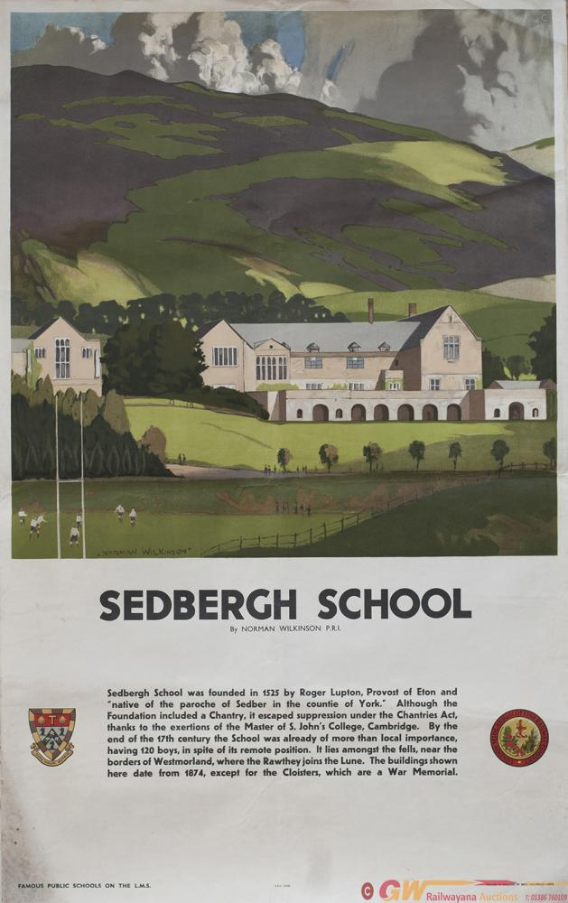 Poster LMS SEDBERGH SCHOOL By Norman Wilkinson
