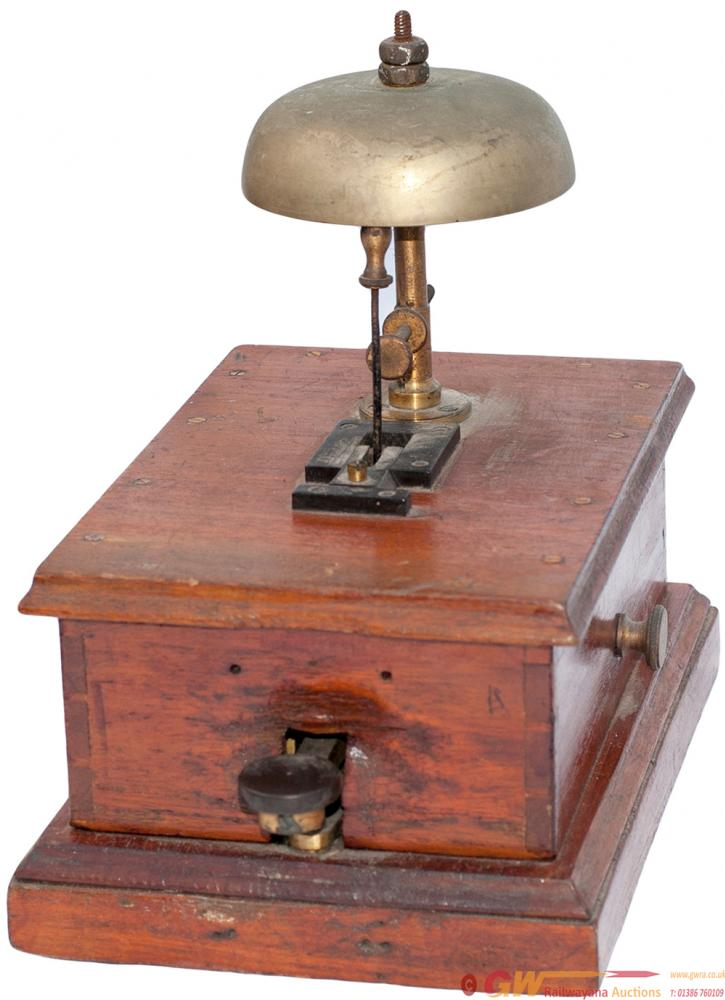 Mahogany Cased Block Bell With Tapper Of The Style