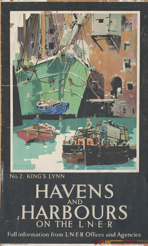 Poster LNER HAVENS AND HARBOURS ON THE LNER no2
