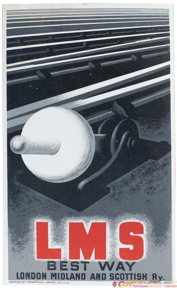 Poster LMS BEST WAY LONDON MIDLAND SCOTTISH RY By