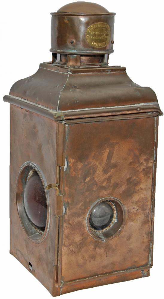 GNR(I) Saxby & Farmer All Copper Signal Lamp With