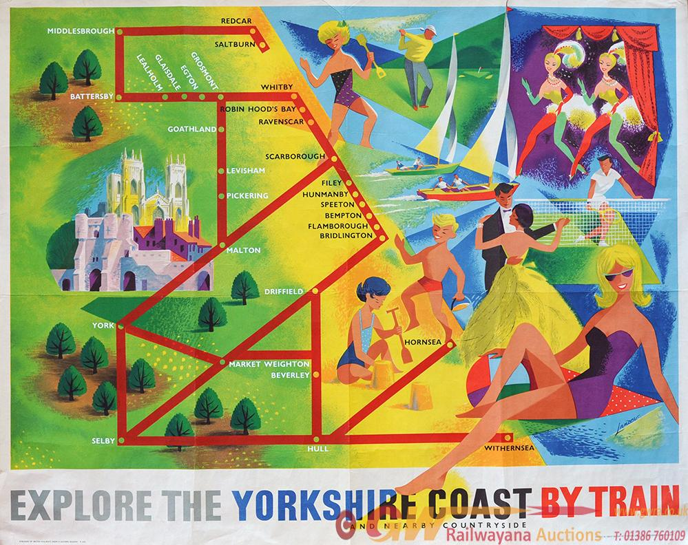 Poster 'Explore The Yorkshire Coast By Train' By