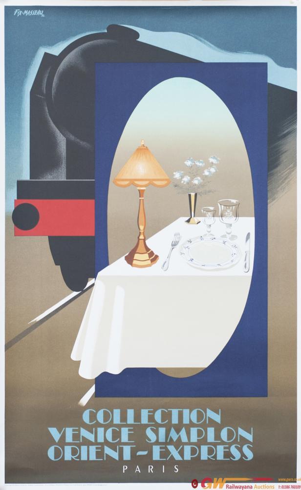 Poster VSOE VENICE SIMPLON ORIENT EXPRESS PARIS By