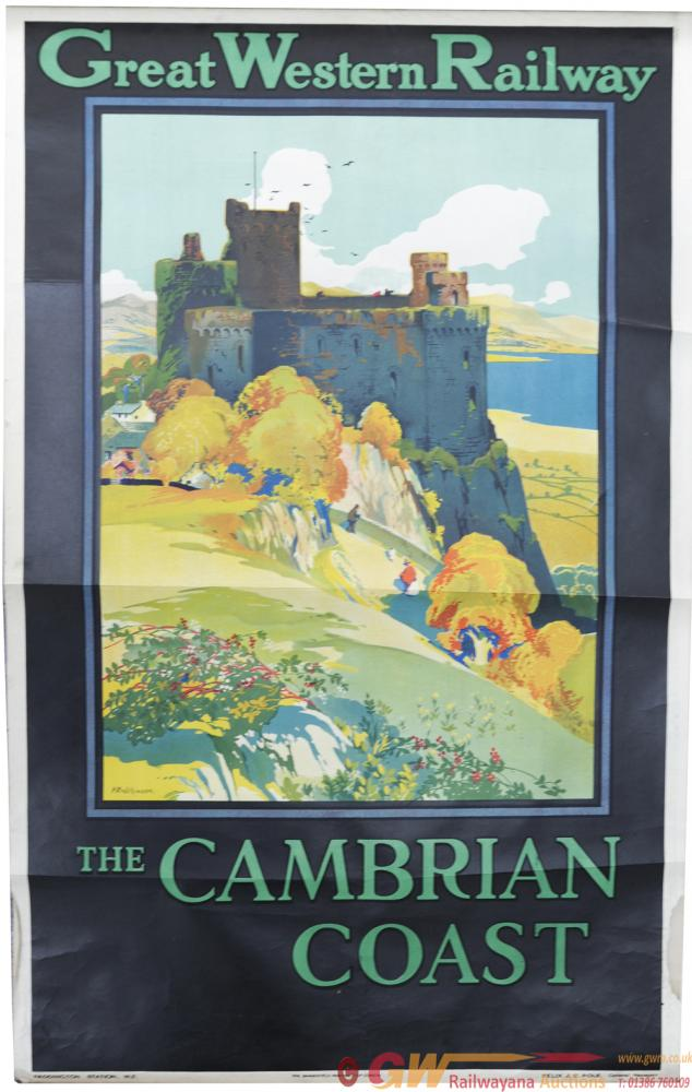 GWR Poster, The Cambrian Coast, By H R Wilkinson,