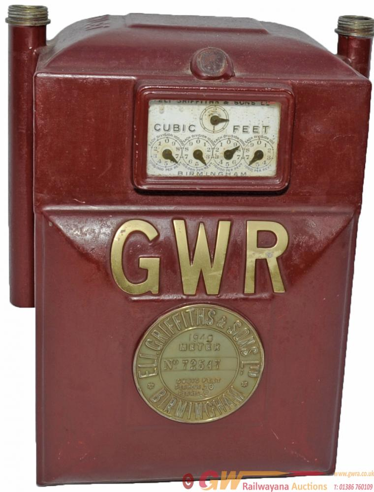 GWR Gas Meter With Embossed Brass Plate Affixed To