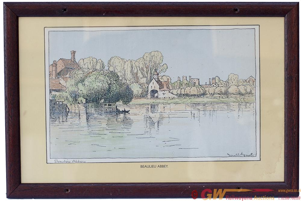 Carriage Print BEAULIEU ABBEY [HAMPSHIRE] By