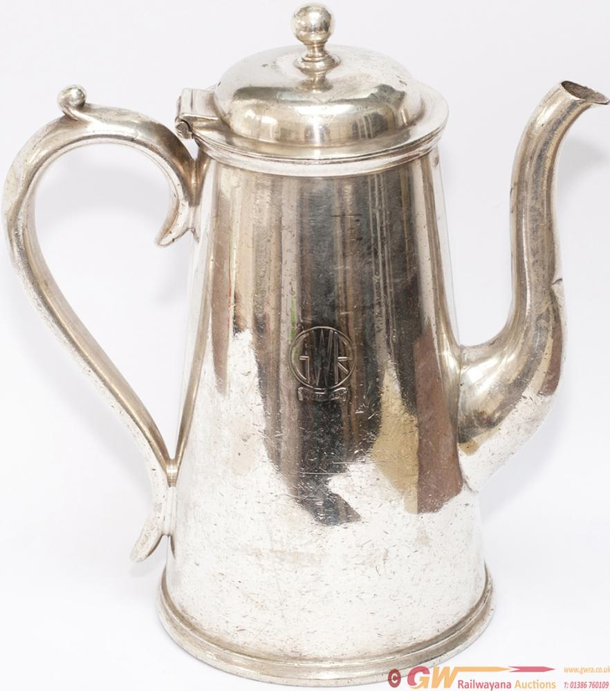 GWR Silverplate 1 Pint Coffee Pot, Marked On The