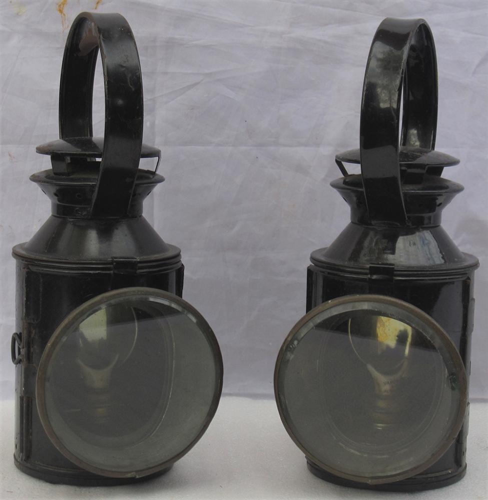 2 X London Transport Railway Hand Lamps. Both