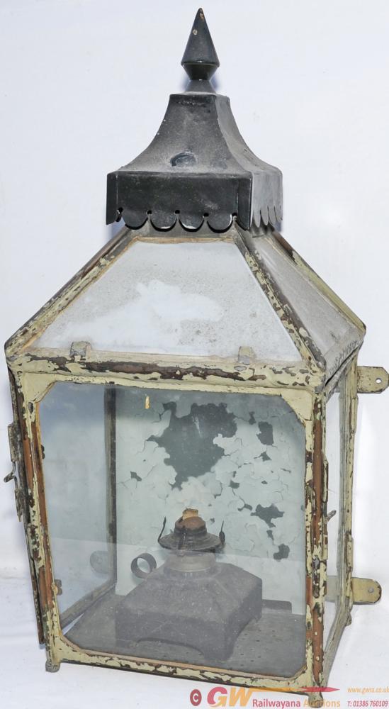 North British Railway Platform Lamp Case In Pretty