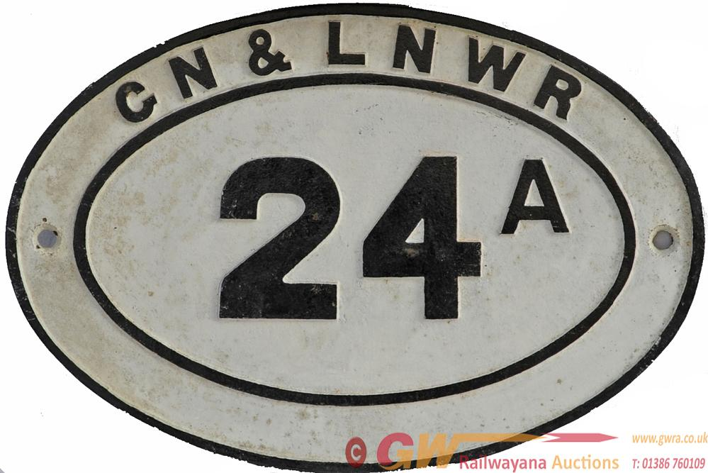 GN & LNWR Joint Bridgeplate No 24a. A Very Rare