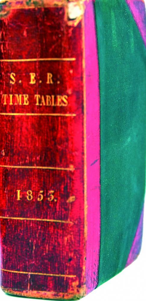 SER Timetables 1853 Bound Book Measuring Just 5