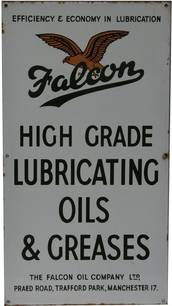 Enamel Advertising Sign 'Falcon High Grade