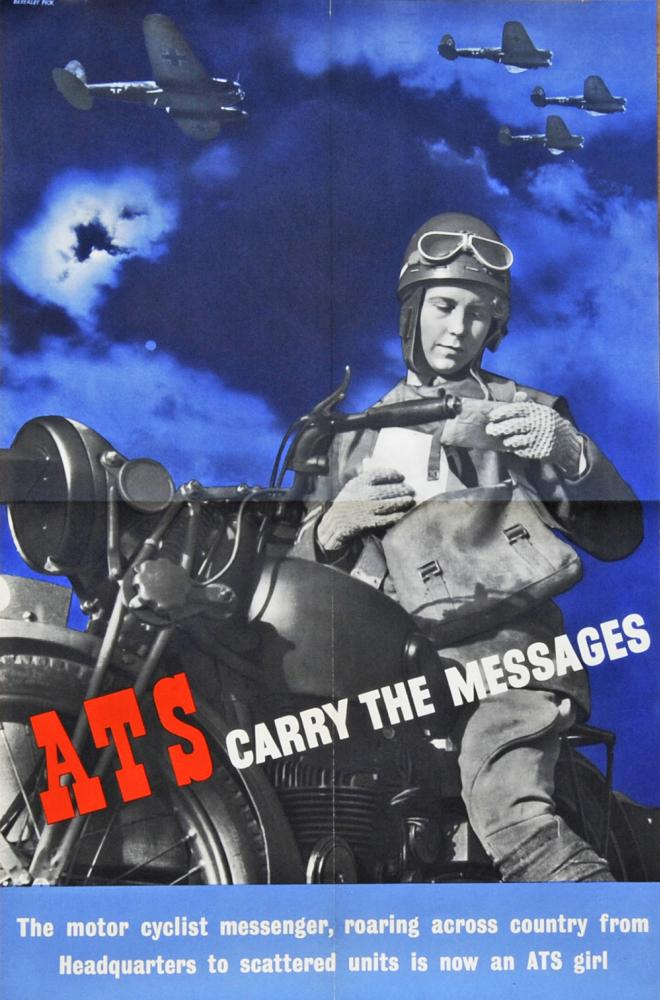 Wartime Poster, 'ATS Carry The Messages - The